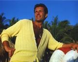 Hugh O'Brien Posed in Yellow Shirt