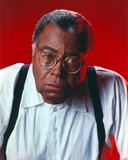 James Jones Close Up Portrait in White Long Sleeve Collar Shirt and Round Eyeglasses with Black Str