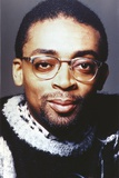 Spike Lee smiling in Close Up Portrait with Eyeglasses