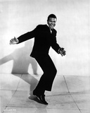 Chubby Checker Posed in Black Suit