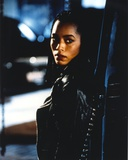 Angela Bassett Posed in Leather Jacket