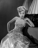 Gloria DeHaven posed in Gown in Black and White