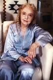 Lillian Gish sitting in Blue Pajamas Portrait
