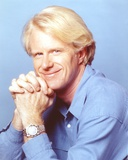 Ed Begley posed in Blue Sleeves