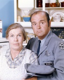 Dom Deluise in Police Uniform with a Lady