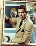 Dean Jones in Brown Coat in Black and White