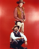 Gunsmoke Cast Picture in Red Background