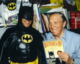 Bob Kane with Batman Costume