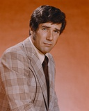 Robert Fuller in Formal Outfit Red Background Portrait