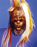 George Clinton Portrait in Blue Background