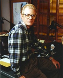 Ed Begley Close Up Portrait in Checkered Long sleeve