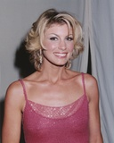 Faith Hill Portrait in Red Sleeveless