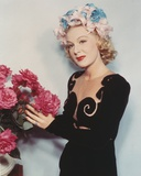 Betty Hutton Posed in Black Dress