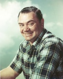 Ernest Borgnine Posed in Checkered Polo