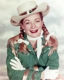 Gail Davis in Cowboy Outfit Close Up Portrait