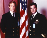 Michael Biehn Posed in Military Uniform Group Portrait