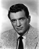 Rock Hudson Posed in Coat Suit With White Background
