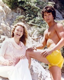 Patrick Duffy Posed in Yellow Swimming Trunks