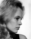 Sandy Dennis Side View Pose Black and White Close Up Portrait
