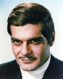 Omar Sharif Portrait in Black Coat
