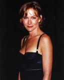 Jennifer Grey smiling in Black Dress Portrait
