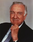 Walter Cronkite Rubbing Chin with Hand