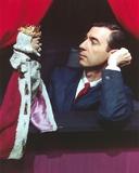 Mister Rogers Holding Puppet in Tuxedo