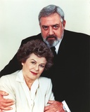 Raymond Burr White Background Couple Portrait in Formal Outfit