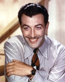Robert Taylor smiling in Shirt and Tie