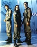 Kristen Cloke Group Picture in Mechanic Uniform