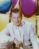 Joseph Cotten Posed wearing White Formal Outfit
