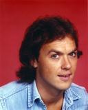 Michael Keaton Close Up Portrait wearing Blue Denim Jacket
