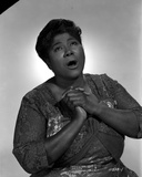 Mahalia Jackson singing in Floral Blouse with White Background