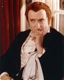 Ron Moody Posed in Black Suit Portrait