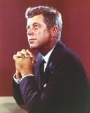 John Kennedy Pose in Black Suit