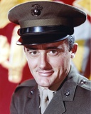 Robert Vaughn smiling in Army Uniform