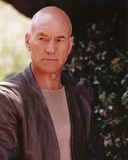 Patrick Stewart Posed in Gray Suit Portrait