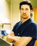 Patrick Dempsey Posed in Blue Shirt