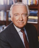 Walter Cronkite Posed in Black Suit