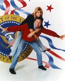 John Ritter Giving a Piggy Back Ride to a Woman in a Portrait