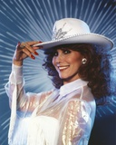 Michele Lee in White Dress with Hat