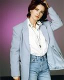 Kim Delaney Posed in Gray Coat