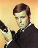 Robert Wagner Posed in Black Suit