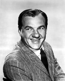 Karl Malden Posed in Stripe Suit With White Background