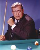 Raymond Burr Playing Pool in Tuxedo Portrait