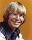 John Denver Orange Background Close Up Portrait