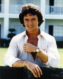 Patrick Duffy smiling Posed in White Long Sleeves