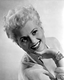Judy Holliday Leaning Backwards and smiling Portrait