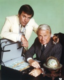 Robert Wagner in White Suit with Old Man in Suit