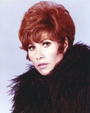 Michele Lee Close Up Portrait wearing Feather Jacket